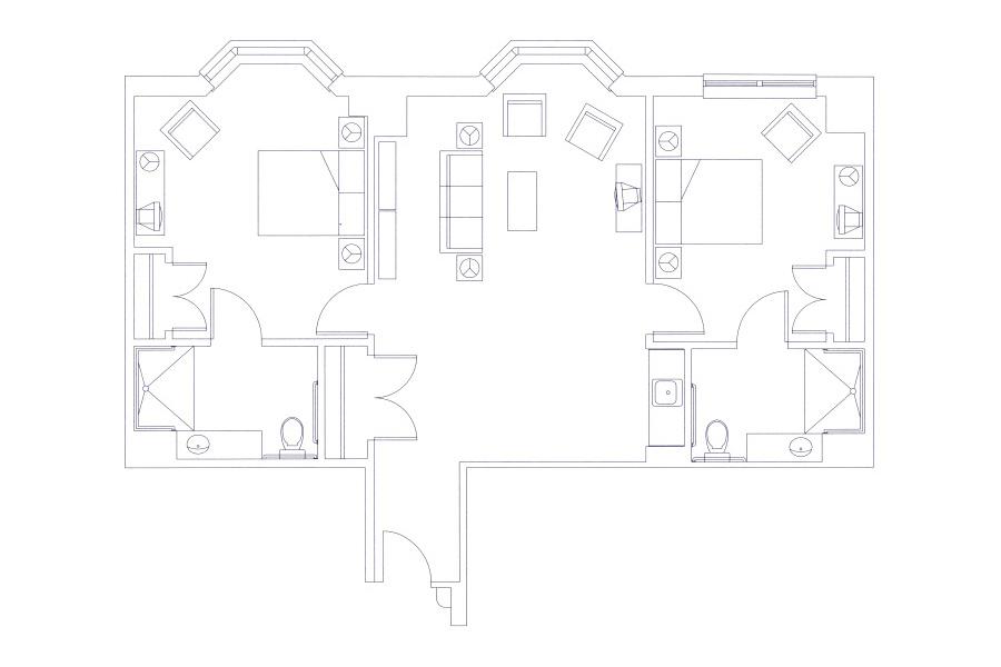 grand oaks senior living two-bedroom blueprint