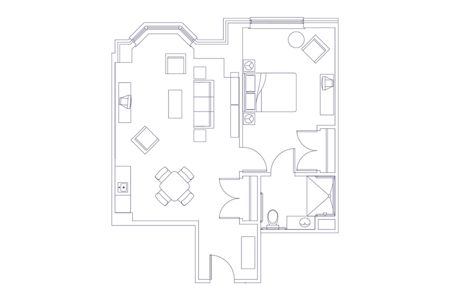 657ft-1-Bedroom