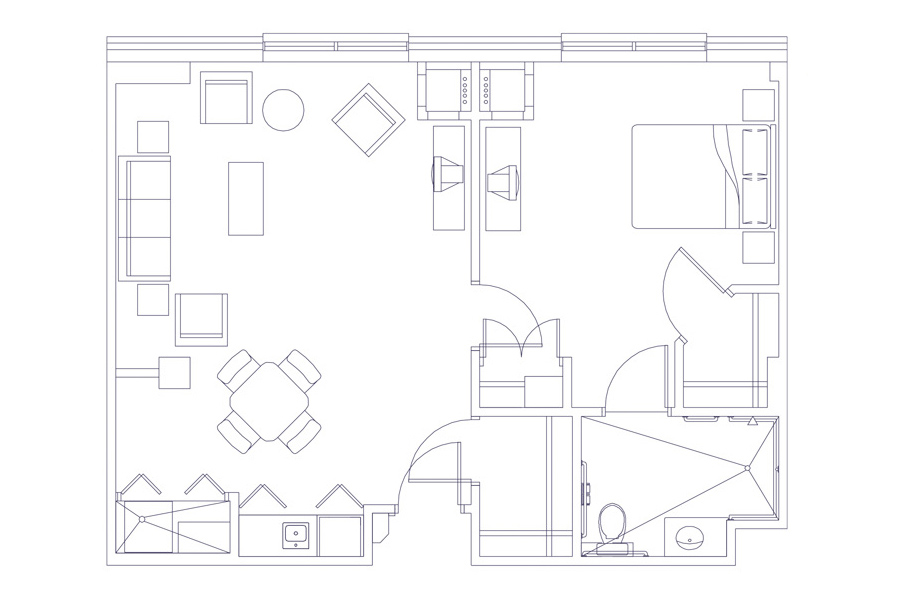 grand oaks senior living deluxe 1 bedroom blueprint