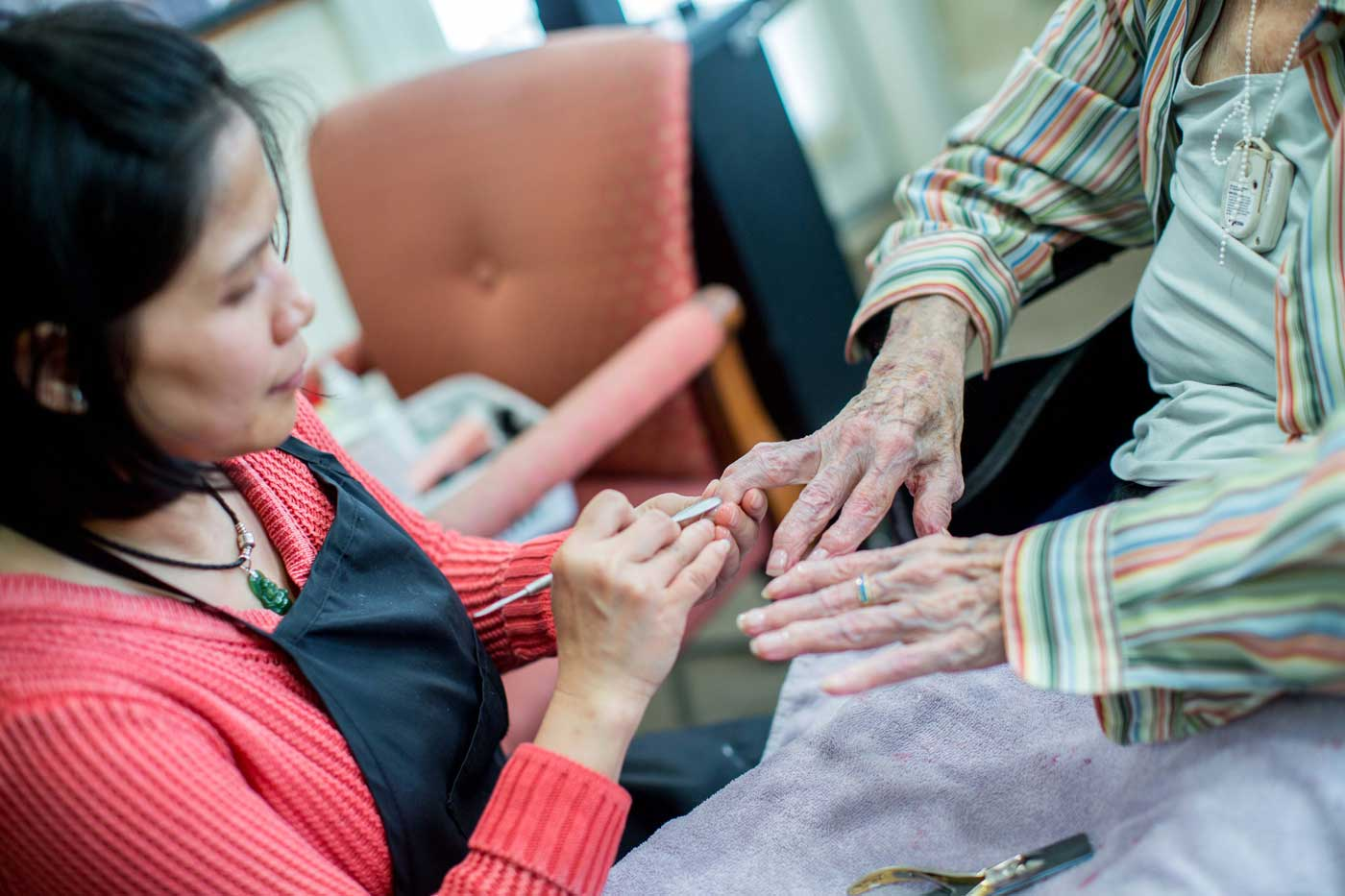 Personal care at senior living facility