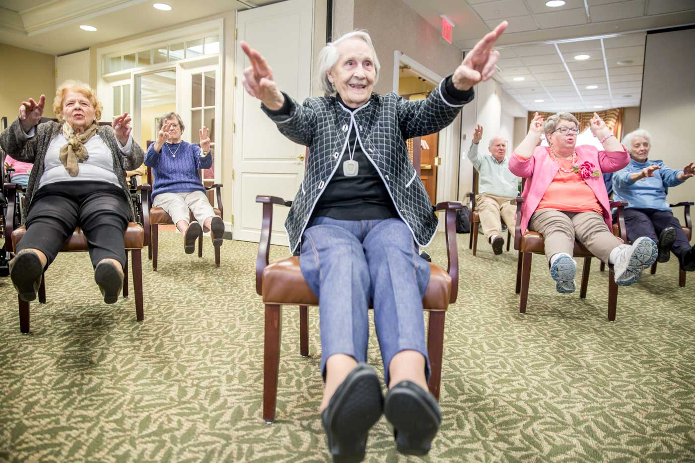 Assisted living care physical activities