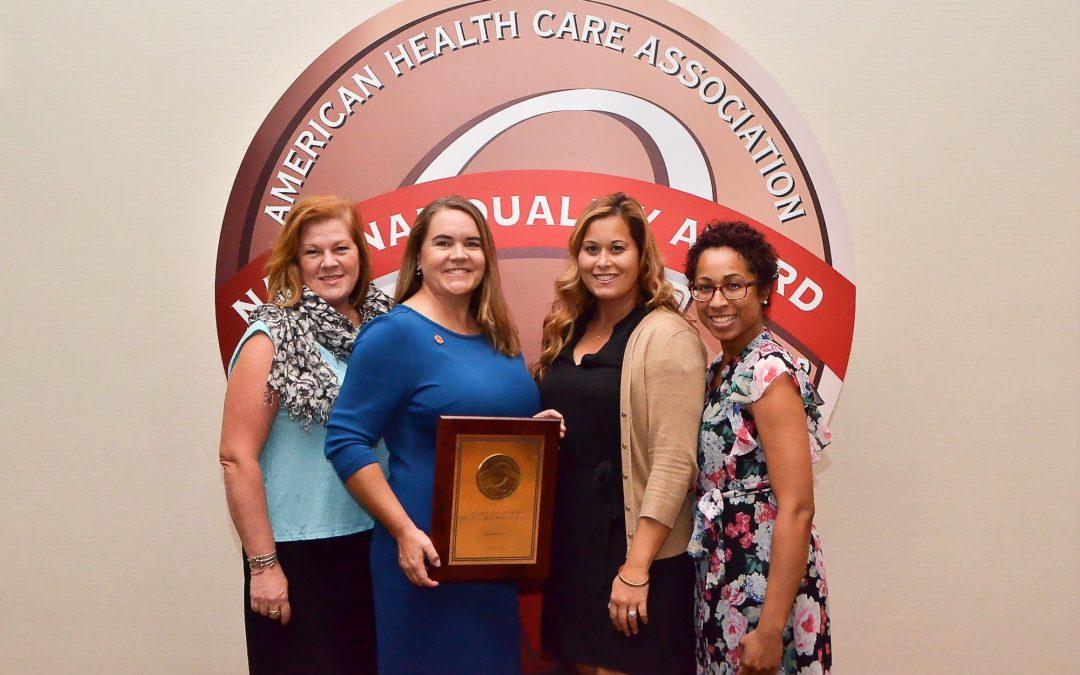 Grand Oaks Receives 2018 Bronze National Quality Award