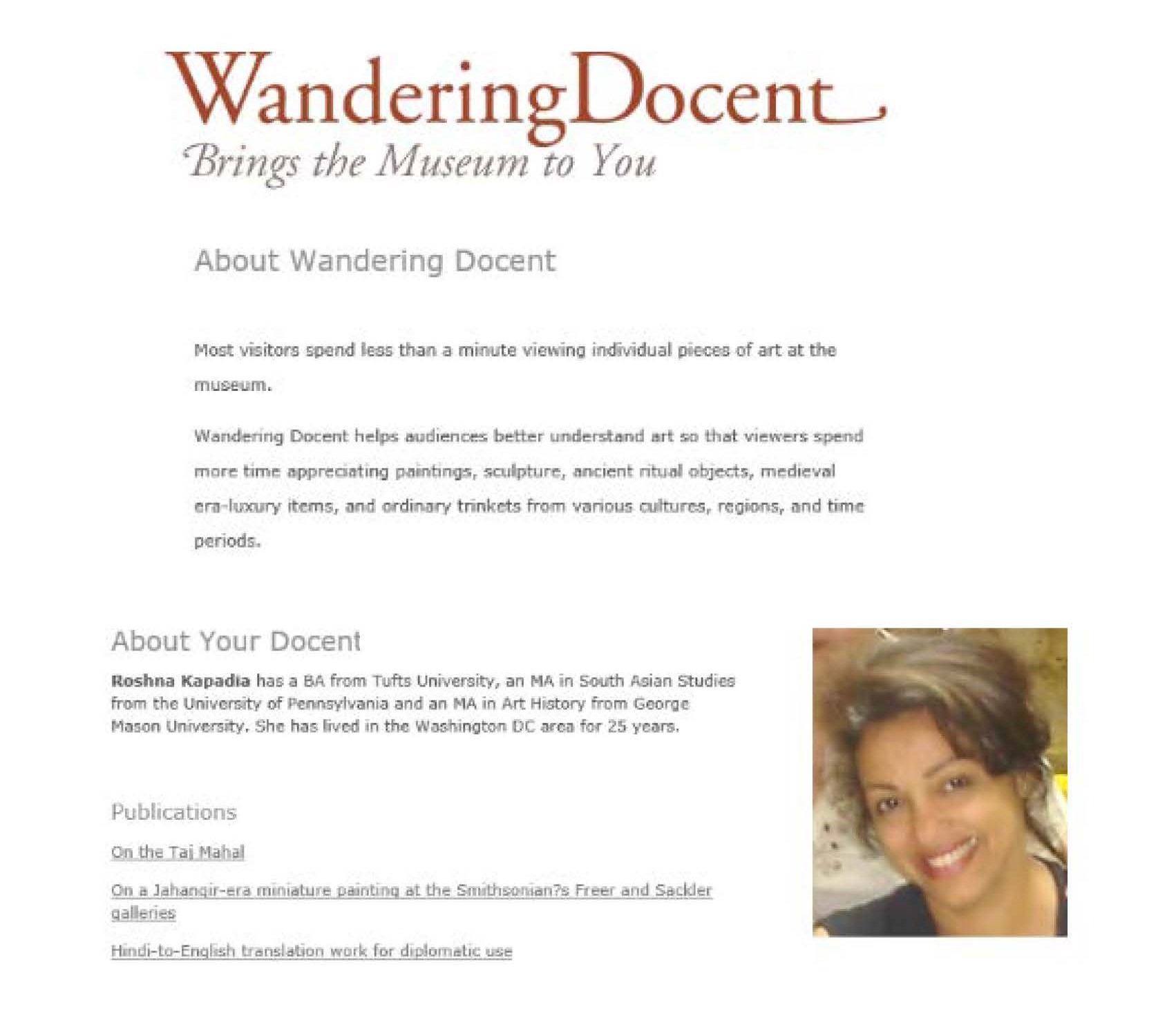 Wandering Docent