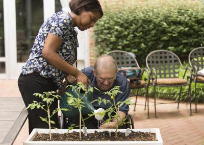 Resident gardening