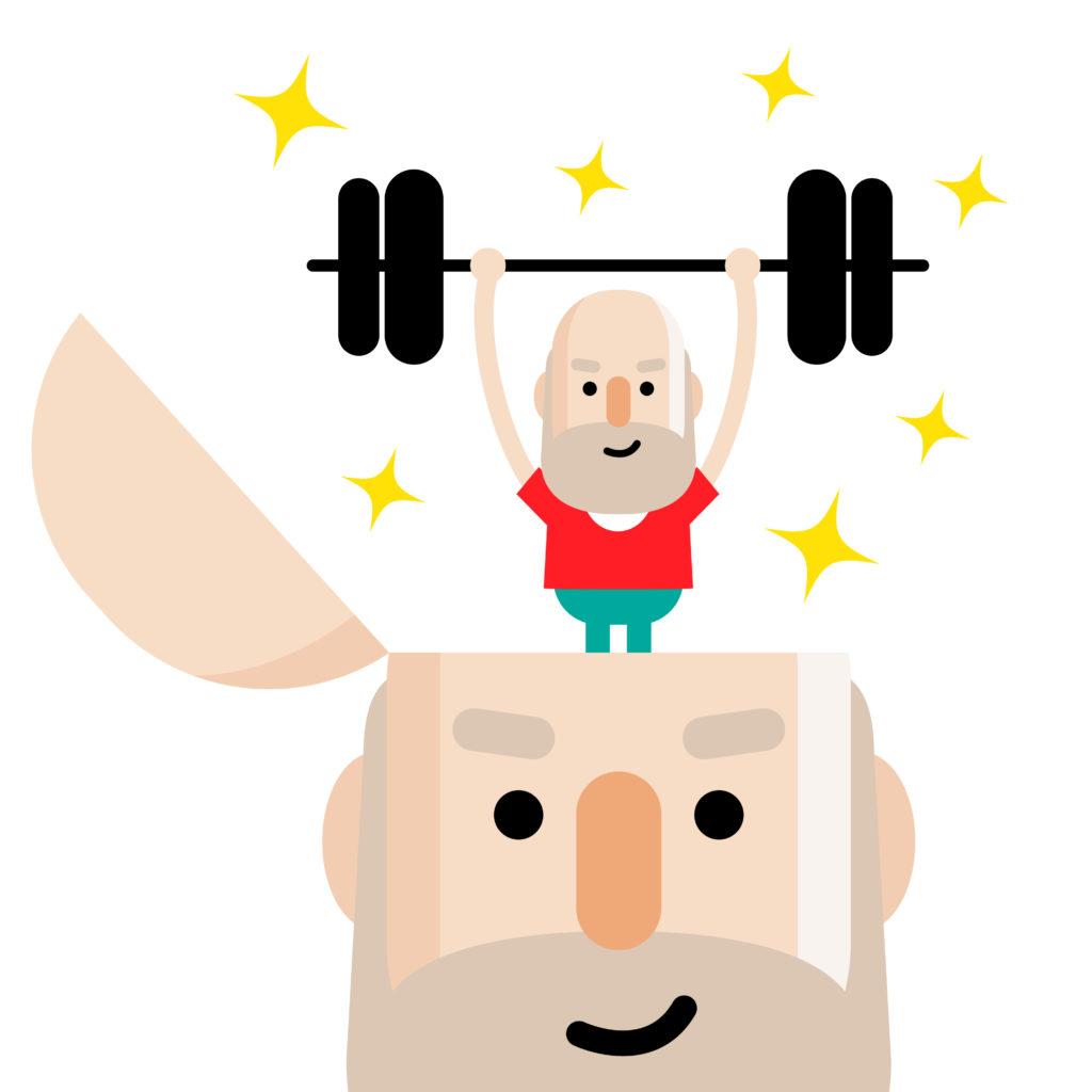 Mental strength illustration