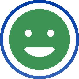 Icon of emoji happy face